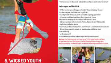 5. Wicked Youth Wakeboardcamps